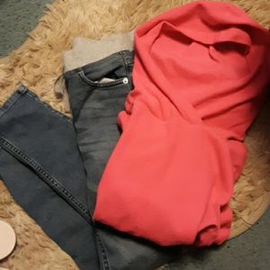 Girls Justice jeans & sweatshirt